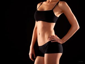 Fit Female Torso in Black Workout Clothes Copy